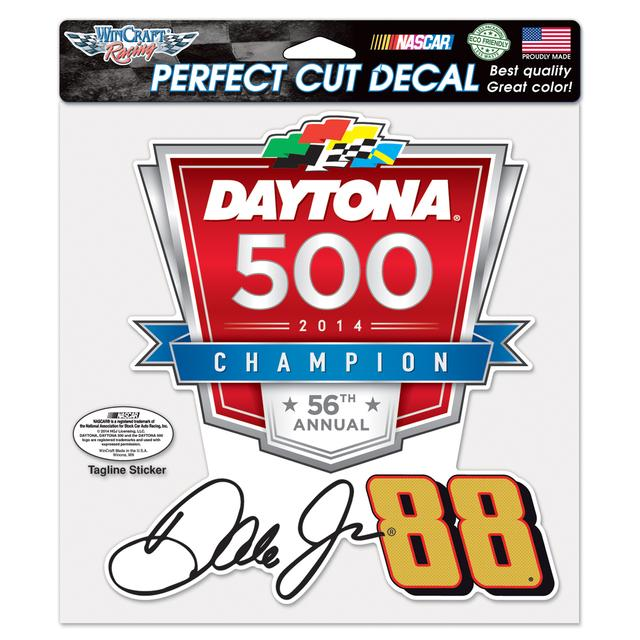Hendrick Motorsports Dale Jr. 2014 Daytona 500 Perfect Cut Decal 8x8