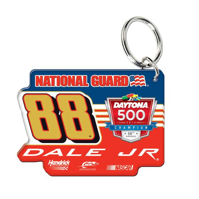Hendrick Motorsports Dale Jr. 2014 Daytona 500 Key Ring Premium Metal