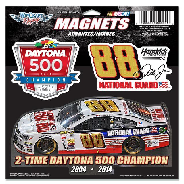 Hendrick Motorsports Dale Jr. 2014 Daytona 500 11X11 3pk Magnet