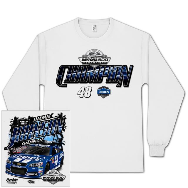 Hendrick Motorsports Jimmie Johnson #48 2013 Daytona 500 Champion Longsleeve T-shirt