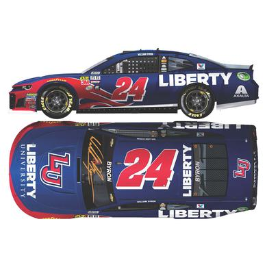 Hendrick Motorsports AUTOGRAPHED William Byron 2018 NASCAR Cup Series No. 24 Liberty University HO 1:24 Die-Cast