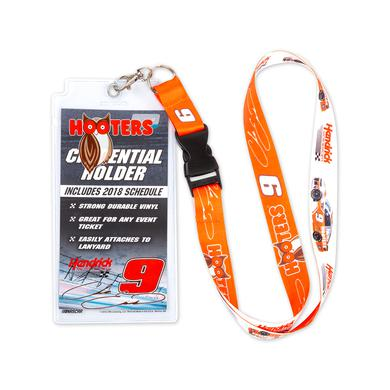 Hendrick Motorsports Chase Elliott #9 2018 NASCAR Hooters Lanyard with Credential Holder