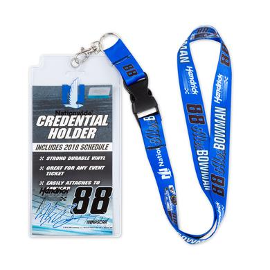 Hendrick Motorsports Alex Bowman #88 2018 NASCAR Lanyard with Credential Holder