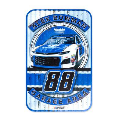 "Hendrick Motorsports Alex Bowman #88 2018 NASCAR Plastic Sign - 11"" x 17"""