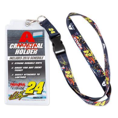 Hendrick Motorsports William Byron #24 2018 NASCAR Axalta Lanyard with Credential Holder