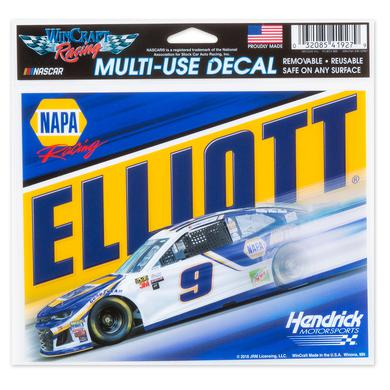 "Hendrick Motorsports Chase Elliott #9 2018 NASCAR Multi-Use Decal - 5"" x 6"""
