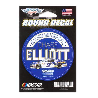 """Hendrick Motorsports Chase Elliott #9 2018 NASCAR NAPA Round Decal - 3"""""""