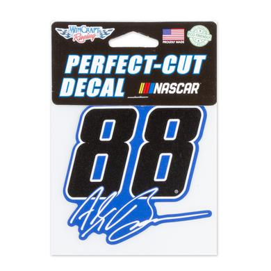 "Hendrick Motorsports Alex Bowman #88 2018 NASCAR Perfect Cut Decal - 4"" x 4"""
