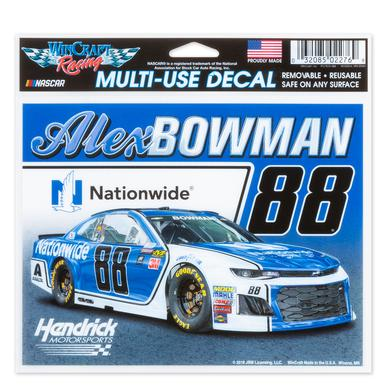 "Hendrick Motorsports Alex Bowman #88 2018 NASCAR Multi-Use Decal - 5"" x 6"""