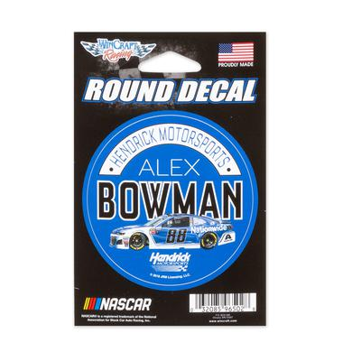 "Hendrick Motorsports Alex Bowman #88 2018 NASCAR Round Decal - 3"""