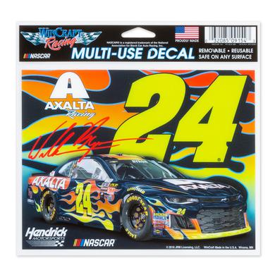 "Hendrick Motorsports William Byron #24 2018 NASCAR Multi-Use Decal - 5"" x 6"""