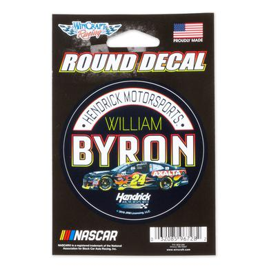 Hendrick Motorsports William Byron #24 2018 NASCAR Round Decal - 3""