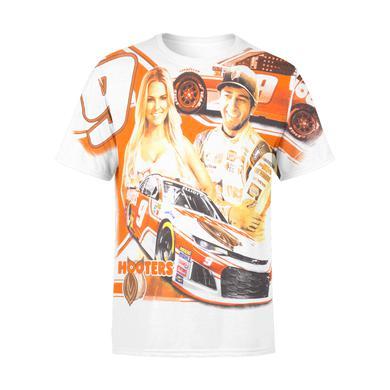 Hendrick Motorsports Chase Elliott 2018 #9 Hooters Total Print T-shirt