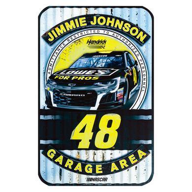 "Hendrick Motorsports Jimmie Johnson #48 2018 NASCAR Plastic Sign - 11"" x 17"""