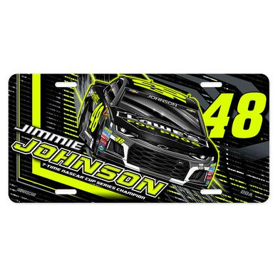 Hendrick Motorsports Jimmie Johnson #48 2018 NASCAR Fluorescent License Plate