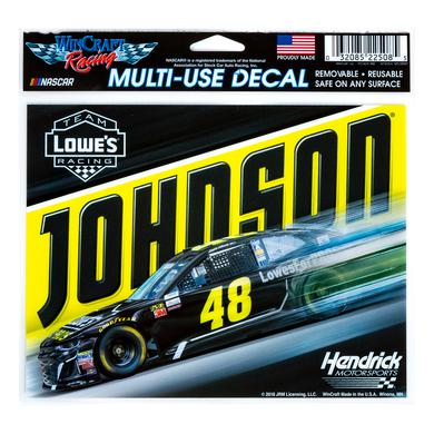 "Hendrick Motorsports Jimmie Johnson #48 2018 NASCAR Multi-Use Decal - 5"" x 6"""