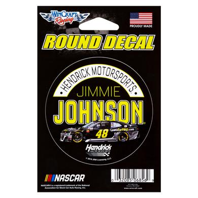 Hendrick Motorsports Jimmie Johnson #48 2018 NASCAR Round Decal - 3""