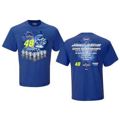 Hendrick Motorsports Jimmie Johnson Career Stats T-shirt - EXCLUSIVE
