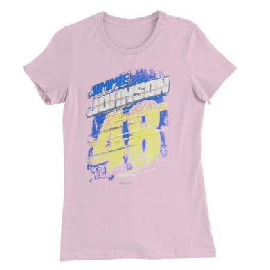 Hendrick Motorsports Jimmie Johnson #48 Breast Cancer Awareness Ladies T-shirt