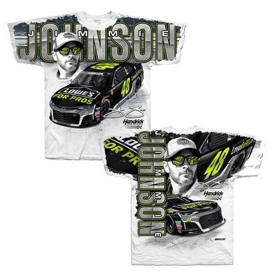 Hendrick Motorsports Jimmie Johnson #48 2018 Lowe's Total Print T-shirt