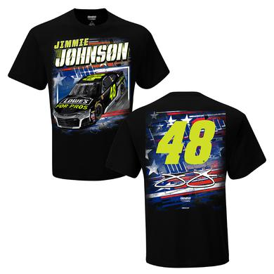 Hendrick Motorsports Jimmie Johnson #48 2018 Lowe's Patriotic 2-Spot T-shirt