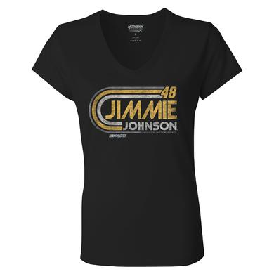 Hendrick Motorsports Jimmie Johnson #48 2018 Ladies Retro 1-Spot T-shirt