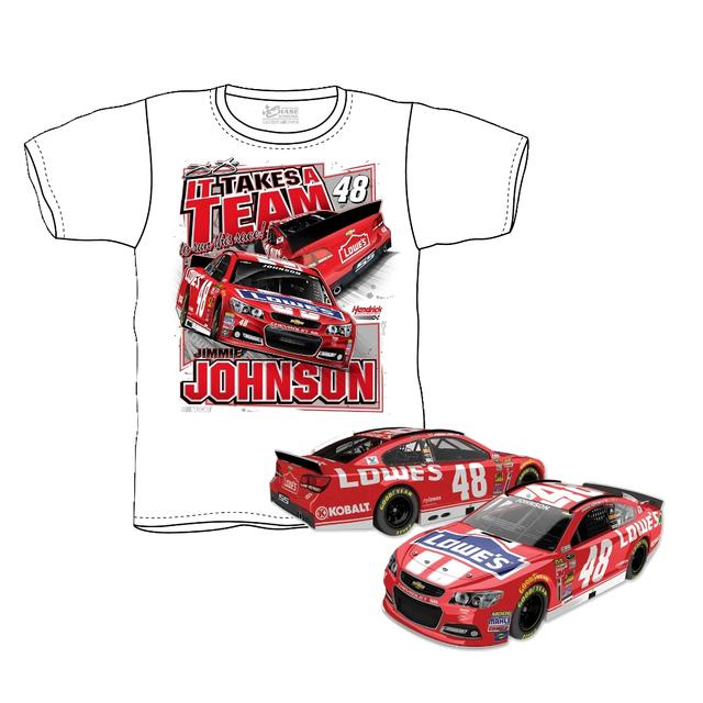 Jimmie Johnson #48 2014 Lowe's Red Vest Shirt/Diecast Bundle