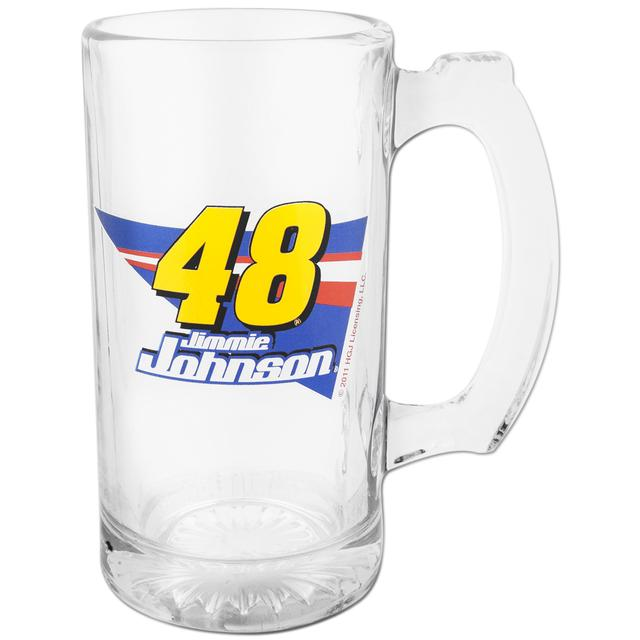 Jimmie Johnson #48 13oz Glass Sports Mug