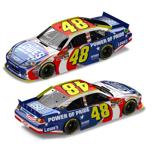 Jimmie Johnson #48 2011 Power of Pride Flash Coat 1:24 Die Cast