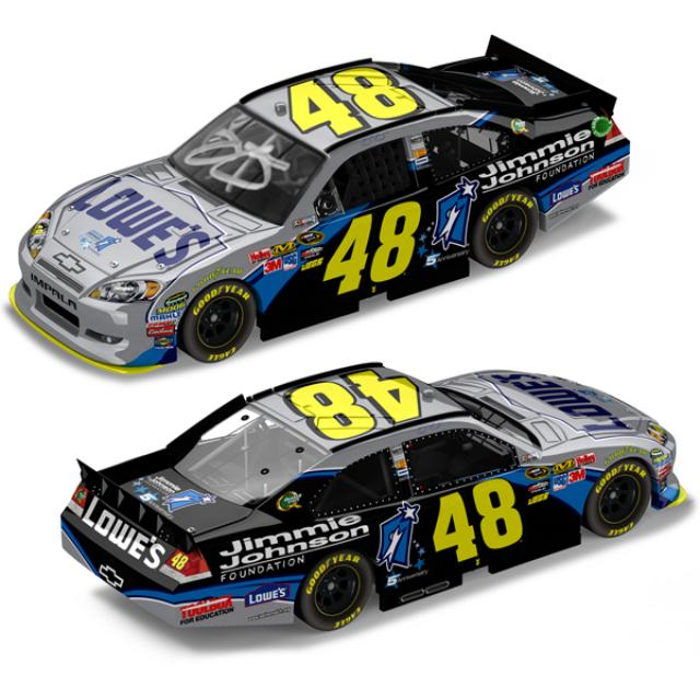 Jimmie Johnson 2011 #48 Foundation AUTOGRAPHED 1:24 Nascar Sprint Cup Series Die-Cast