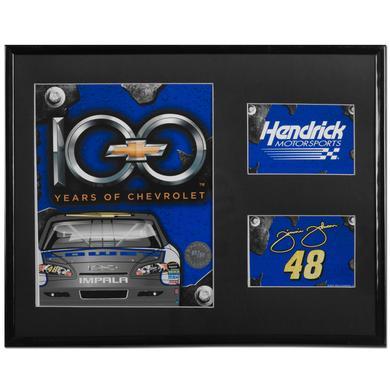 "Jimmie Johnson Chevy 100 Anniversary 11x14"" Mylar Frame Photo"