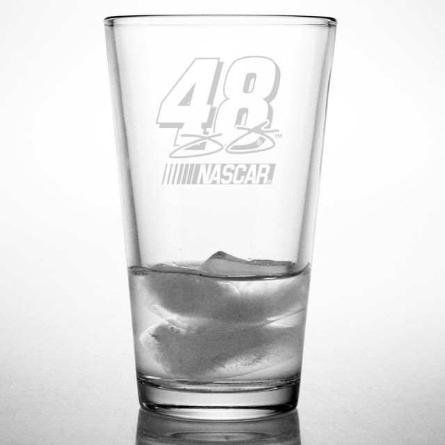 Jimmie Johnson 16oz Etched Pint Glass