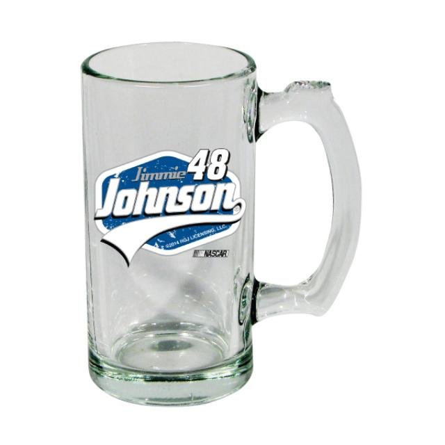 Jimmie Johnson-2014  13 oz, Glass Sports Mug