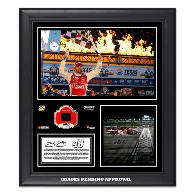 Jimmie Johnson 2014 NASCAR Sprint Cup Series AAA Texas 500 Race Win Framed 15'' x 17'' Collage With -Used Tire