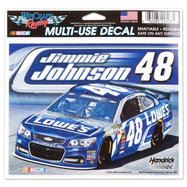 Jimmie Johnson 5X6 Decals Multi Car