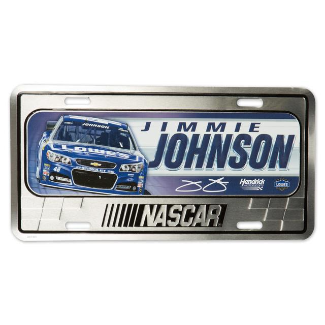 Jimmie Johnson Metal License Plate