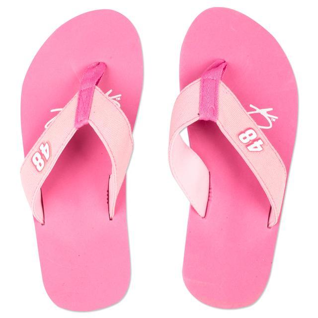Jimmie Johnson Excel Pink Flip Flops