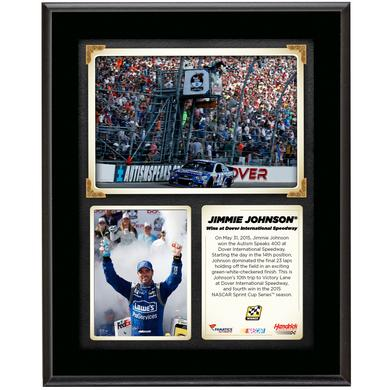 Jimmie Johnson 2015 Dover Race Win Sublimated 10.5'' x 13'' Plaque