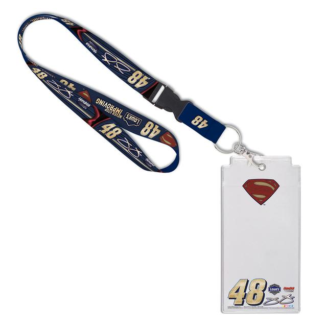 Jimmie Johnson #48 Superman Credential Holder Lanyard Set
