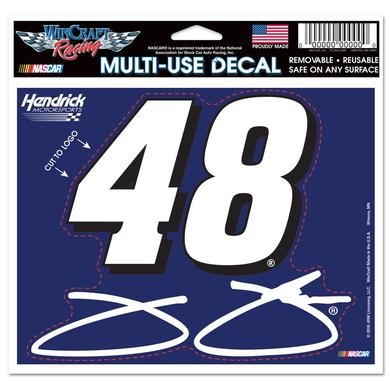 "Jimmie Johnson #48 4.5"" x 5.75"" Multi-Use Decal"