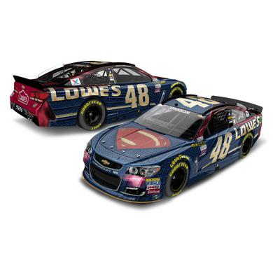 Jimmie Johnson #48 2016 AUTO CLUB 400 Race Win Superman 1:64 Diecast
