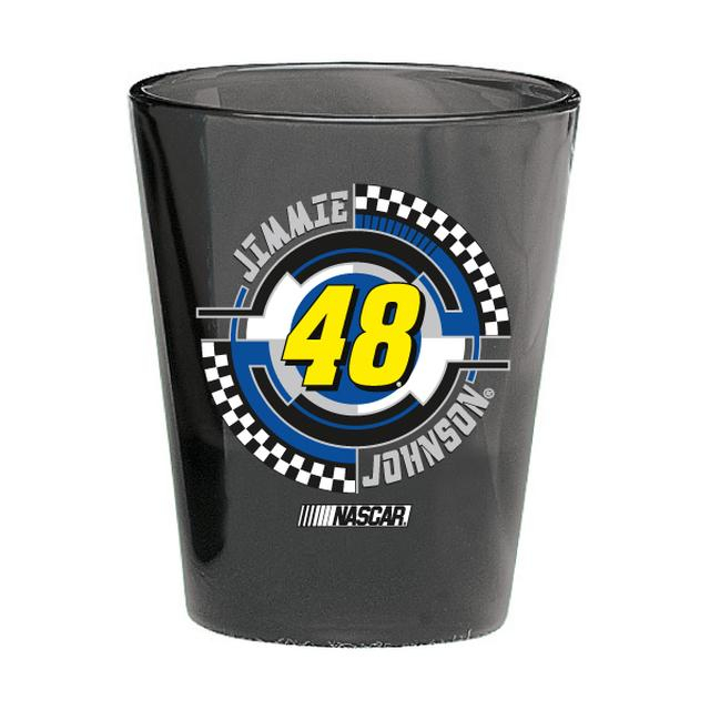 Jimmie Johnson #48 2 oz. Black Collector Glass