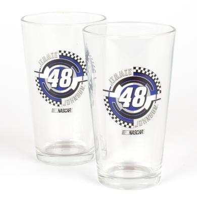 Jimmie Johnson #48 2 Pack Mixing Glasses