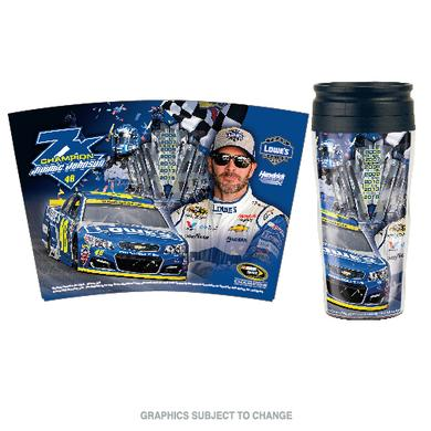 Jimmie Johnson 2016 NASCAR Sprint Cup Champion Contour Travel Mug 16 oz