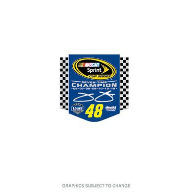 Jimmie Johnson 2016 NASCAR Sprint Cup Champion Cloisonne Pin with Hard Insert