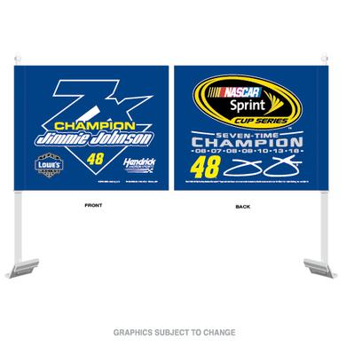 Jimmie Johnson 2016 NASCAR Sprint Cup Champion Car Flag