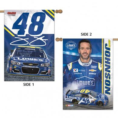 "Jimmie Johnson 2-sided Vertical Flag - 28"" x 40"""