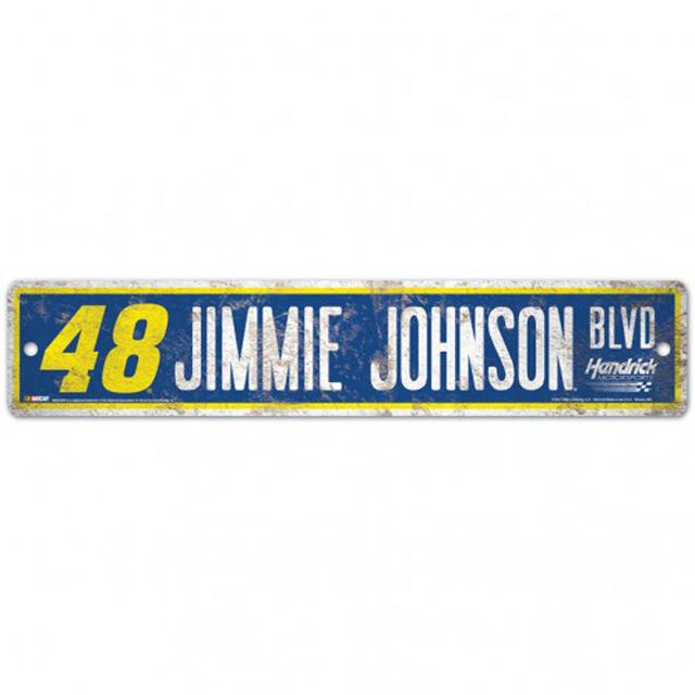 "Jimmie Johnson Street/Zone Sign - 4.5"" x 17"""