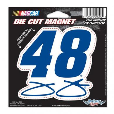 "Jimmie Johnson Die-Cut Magnet - 4.5"" x 6"""