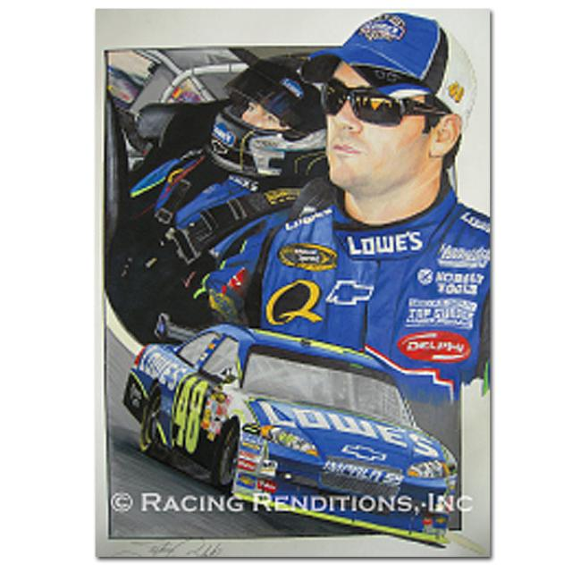 Jimmie Johnson Stephen Balok Print